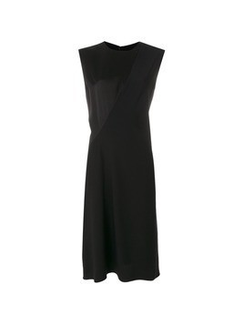 Jil Sander panelled sleeveless dress - Black