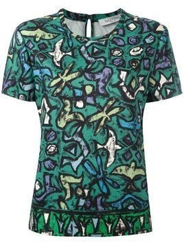 Valentino bird print blouse - Green
