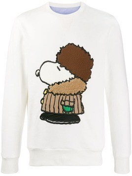 Lc23 Snoopy embroidered sweatshirt - White