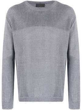 Iris Von Arnim knit crew neck jumper - Blue