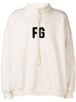 Fear Of God initials patch hoodie - White