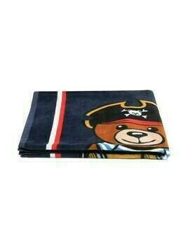 Moschino Kids Pirate Teddy towel - Blue