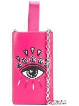 Kenzo embroidered iPhone crossbody case - Pink & Purple