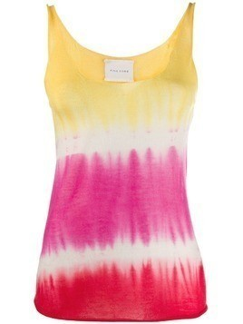 Fine Edge tie-dye knit top - Yellow