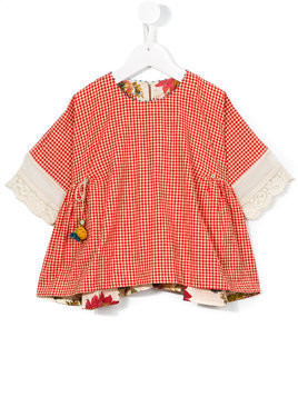 Pero Kids checked blouse - Red