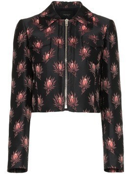 Giambattista Valli floral print cropped jacket - Black