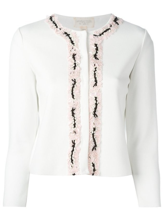Giambattista Valli embellished cardigan - White