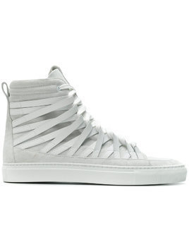 Damir Doma Damir Doma x Officine Creative strappy hi-top sneakers - White