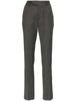 Matthew Adams Dolan High-Waisted Slim Trousers - Grey