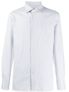 Ermenegildo Zegna striped long-sleeve shirt - White