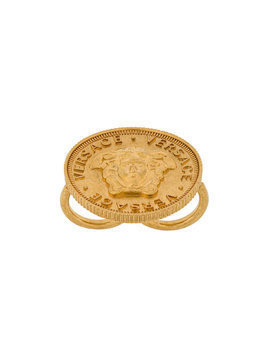 Versace Medusa coin ring - Metallic