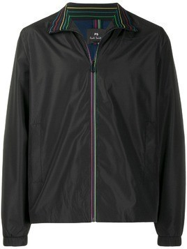 PS Paul Smith rainbow trim shell jacket - Black