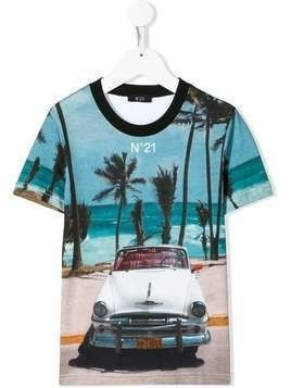 Nº21 Kids car print T-shirt - Multicolour