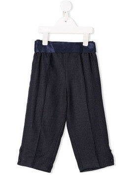 La Stupenderia satin trim trousers - Blue