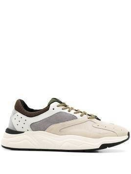 Brimarts panelled low-top sneakers - NEUTRALS