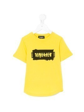 Dsquared2 Kids logo printed T-shirt - Yellow&Orange
