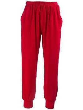 Styland high waisted track pants - Red