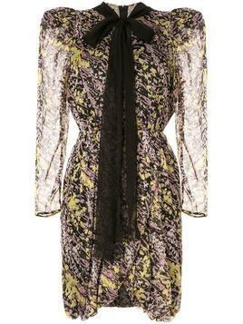 Giambattista Valli printed silk dress - Black
