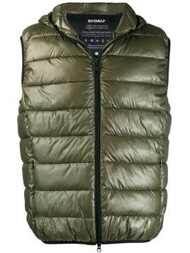 Ecoalf padded shell gilet - Green