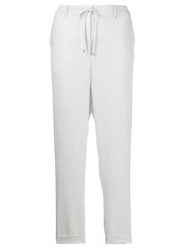 Essentiel Antwerp Tobago pinstripe track pants - White