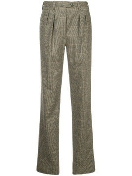 Giuliva Heritage Collection classic checked trousers - Brown