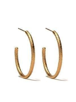 Annoushka 18kt yellow gold Organza hoop earrings - 18ct Yellow Gold