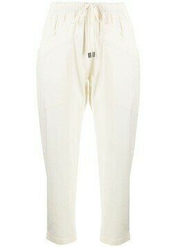 Gentry Portofino cropped cotton-blend trousers - Neutrals