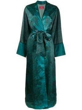 F.R.S For Restless Sleepers floral-print satin coat - Blue