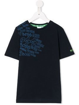 Boss Kids graffiti logo T-shirt - Blue