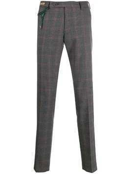 Berwich check tailored trousers - Grey