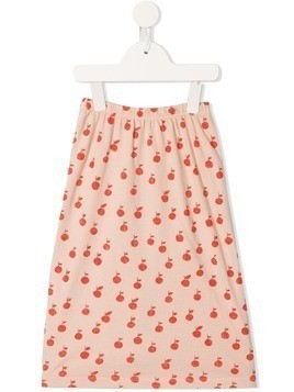 Bobo Choses apple printed skirt - Pink