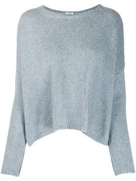 Apuntob round neck plain jumper - Blue