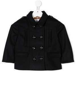 Burberry Kids double-breasted coat - Blue