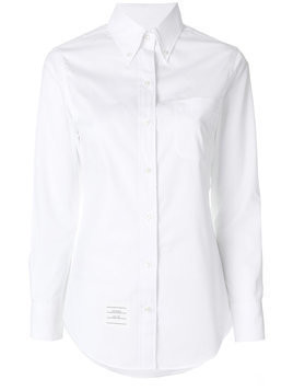 Thom Browne button-down slim-fit shirt - White