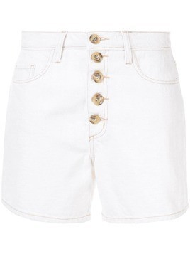 Nobody Denim Stevie denim shorts - White
