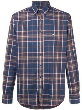 Etro plaid button down shirt - Blue