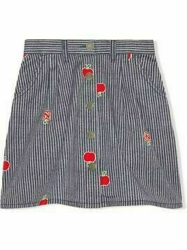Gucci Kids apple striped skirt - Blue
