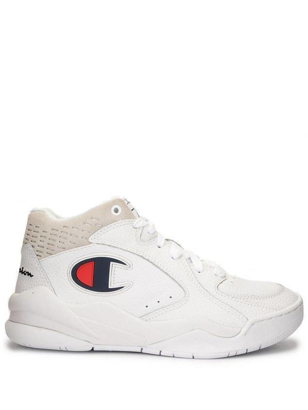 Champion Zone-Mid logo trainers - White