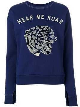Zoe Karssen Hear Me Roar sweatshirt - Blue