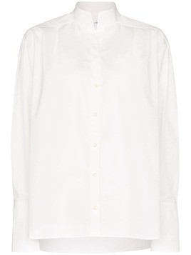 Frame pleated oversized cotton shirt - White