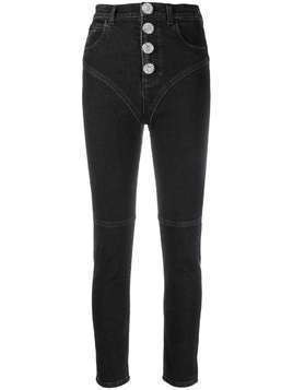Alessandra Rich cropped skinny jeans - Black