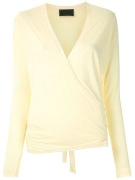 Andrea Bogosian long sleeves wrap blouse - Yellow