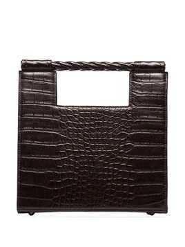 Mehry Mu Unicorn croc-effect boxy bag - Brown