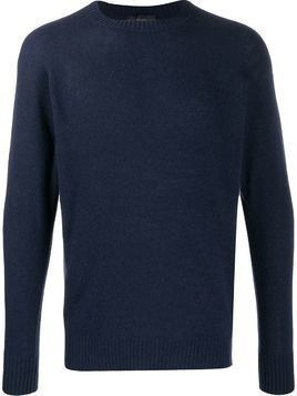 Maison Flaneur slim fit jumper - Blue