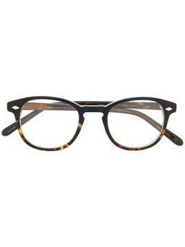 Lesca 711 square frame glasses - Brown