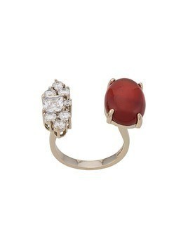 Iosselliani Agate Open Ring - GOLD
