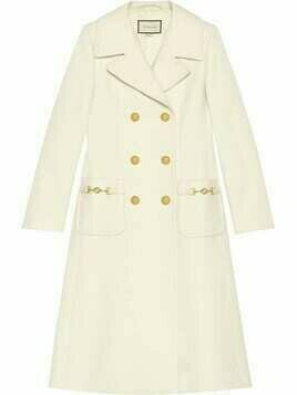Gucci double-breasted mid-length coat - White