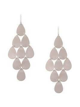 Irene Neuwirth 18kt white gold nine-drop chandelier earrings