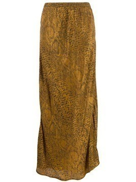 Mes Demoiselles python print long skirt - GOLD