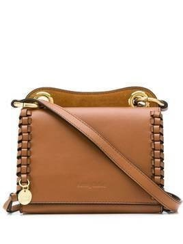 See by Chloé embossed logo shoulder bag - Brown